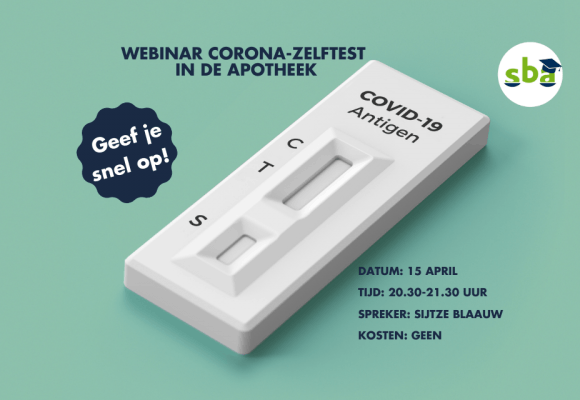 Webinar corona-zelftesten 15 april: doe je mee?